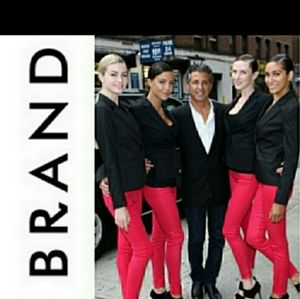 J. Brand for FNO coated shock pink skinny jean 28